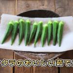 オクラの茹で方やゆで時間は?レンジで簡単に加熱できる?